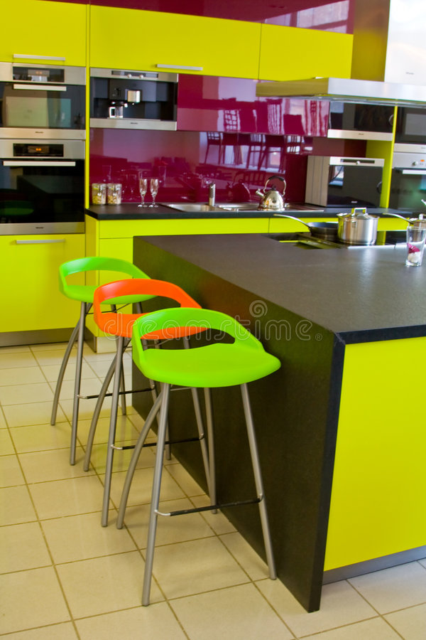 Stylish colorful bar chair. Stylish colorful modern bar chair stock images
