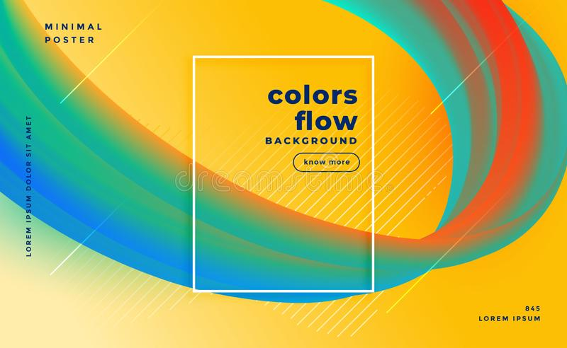 Stylish colors flow abstract banner design. Vector royalty free illustration