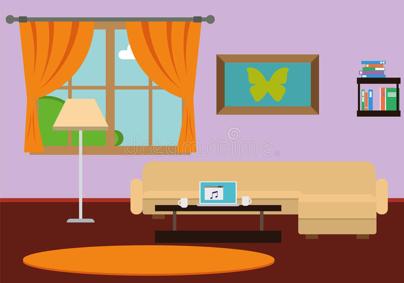 Stylish Comfortable Room Interior stock images