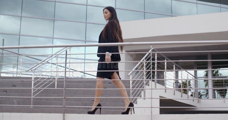 Stylish confident business manageress stock photo