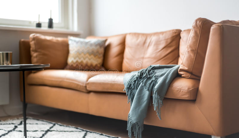Stylish couch royalty free stock images