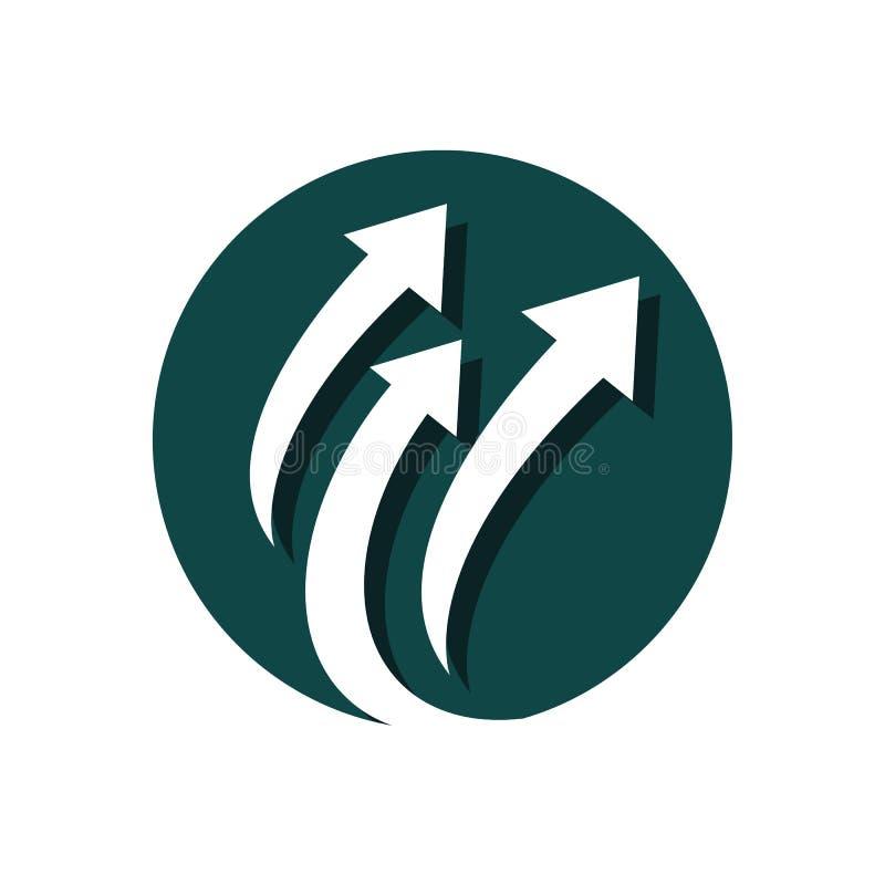 Stylish Creative Abstract Arrow logo vector icon template stock image