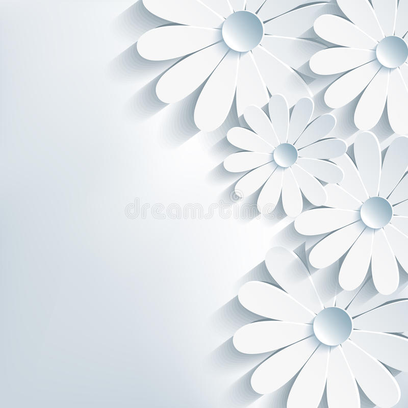 Free Stylish Creative Abstract Background, 3d Flower Ch Royalty Free Stock Images - 34352159