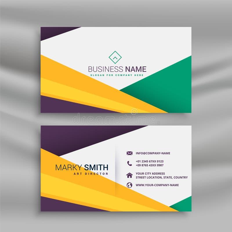 Stylish creative business card with geometric shapes royalty free illustration