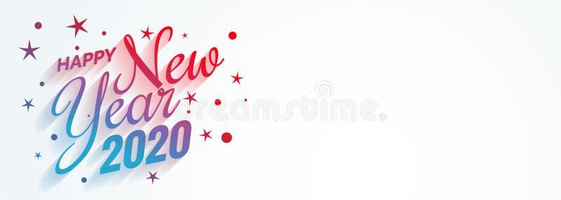 Stylish creative happy new year 2020 banner design royalty free illustration