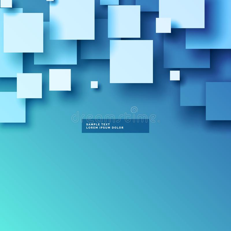 Stylish 3d squares vector background design. Vector stock illustration