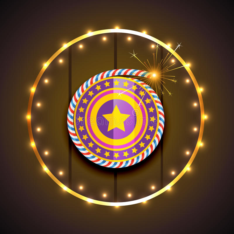 Stylish design of diwali vector illustration
