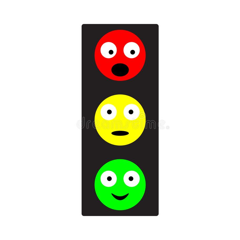 Stylish design of a traffic light in various forms vector illustration