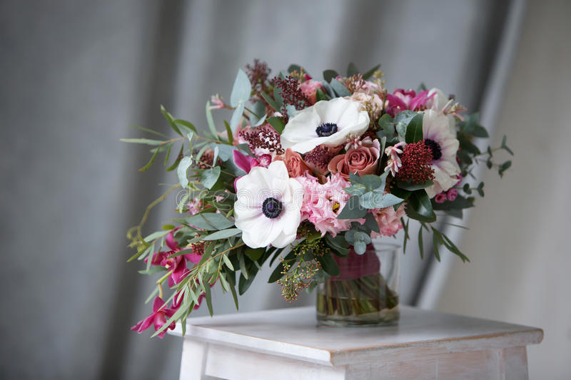Stylish Designer Wedding Flowers. Wedding flowers bride stock images