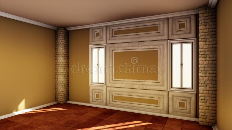 Download Stylish Empty Room Interior Stock Illustration   Illustration Of  Empty, Design: 74870880