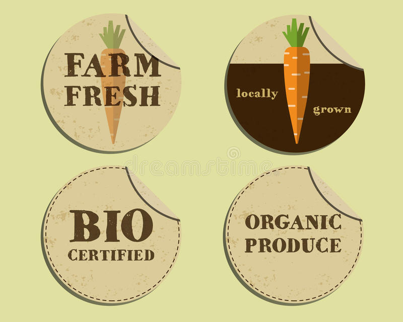 Download stylish farm fresh label and sticker template with stock vector illustration of commercial