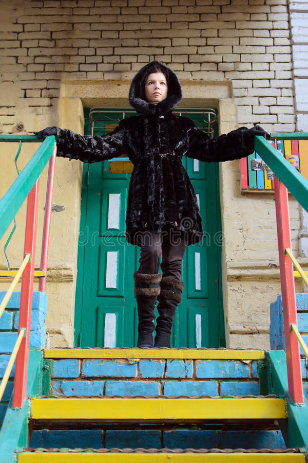 Stylish fashion brunette girl 3 royalty free stock images