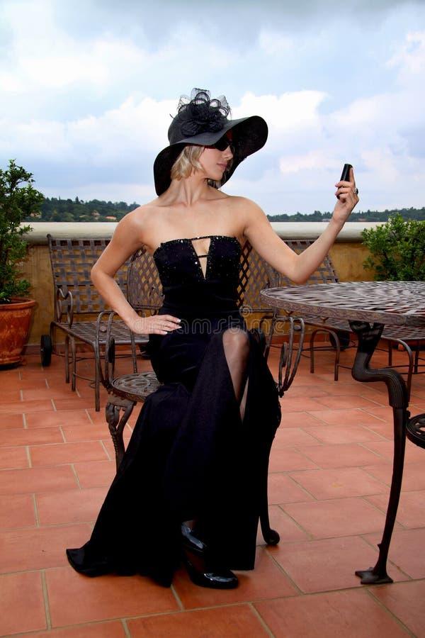 Glamour Model Adjusting Stockings Stock Photo Image Of
