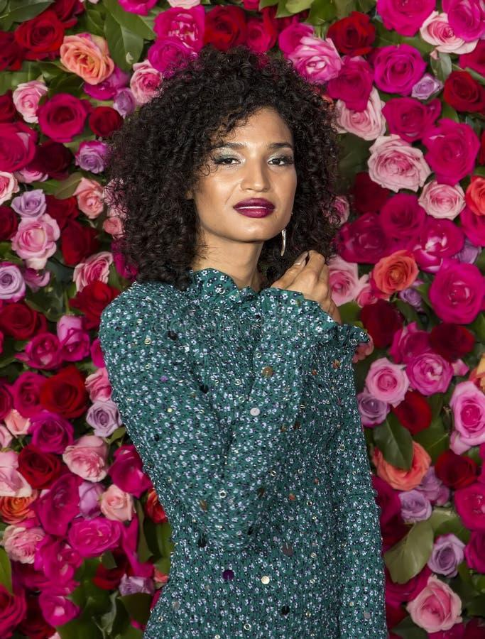 Indya Moore at the 2018 Tony Awards stock photography
