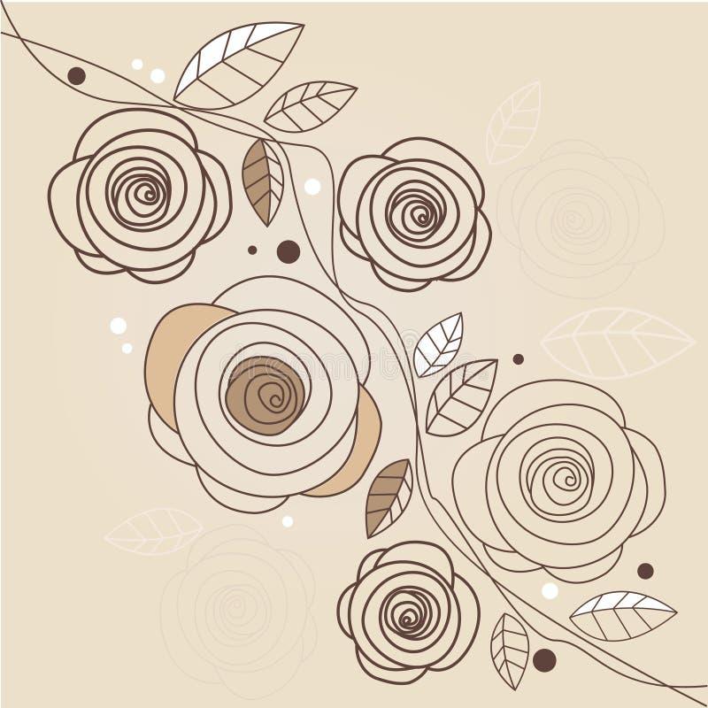 Stylish floral background royalty free illustration