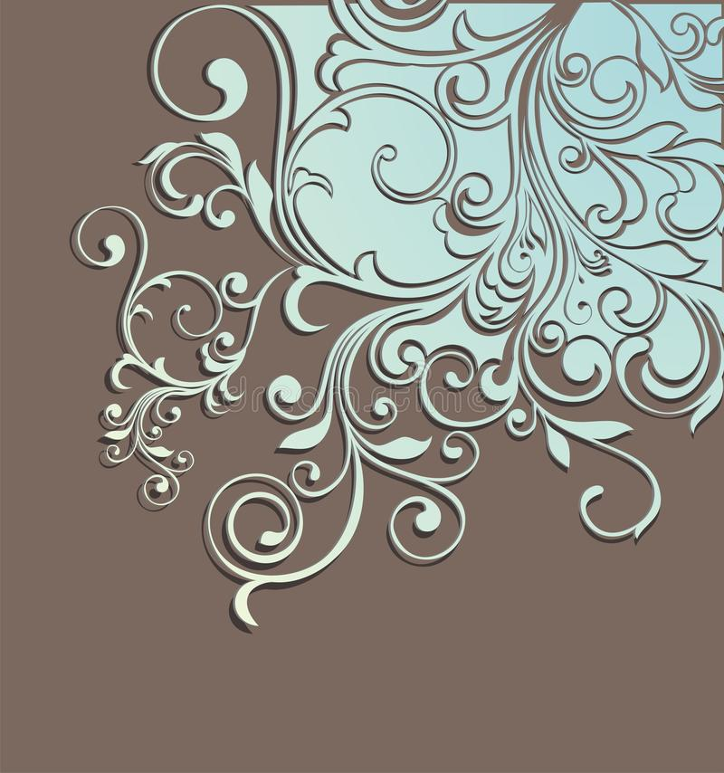 Download Stylish floral background stock vector. Image of scroll - 16536929