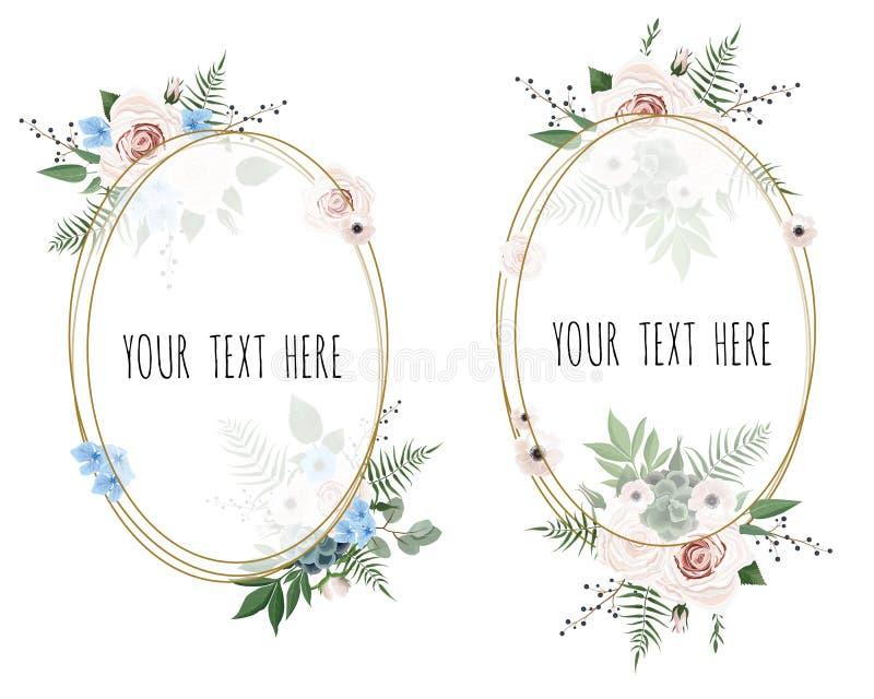 Stylish floral vector design round frame. Vector illustration. vector illustration