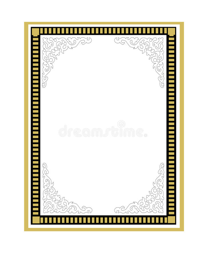 Download Stylish frame stock illustration. Illustration of decorations - 18101550