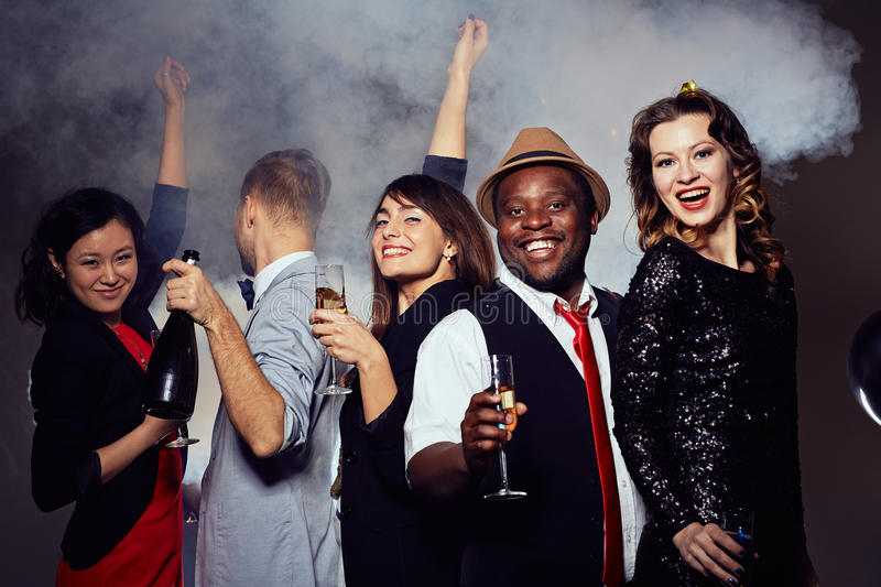 Stylish Friends Clubbing royalty free stock images