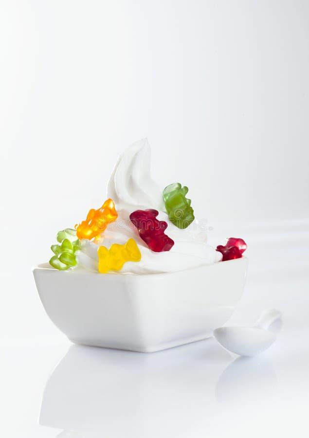Stylish frozen yoghurt stock images