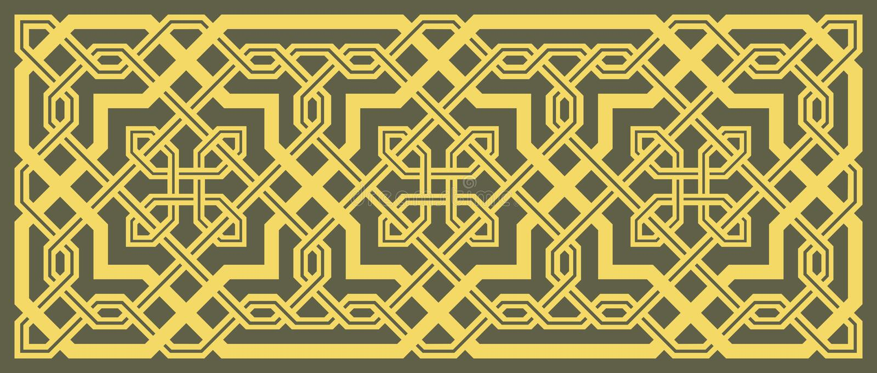 Stylish geometric ornament