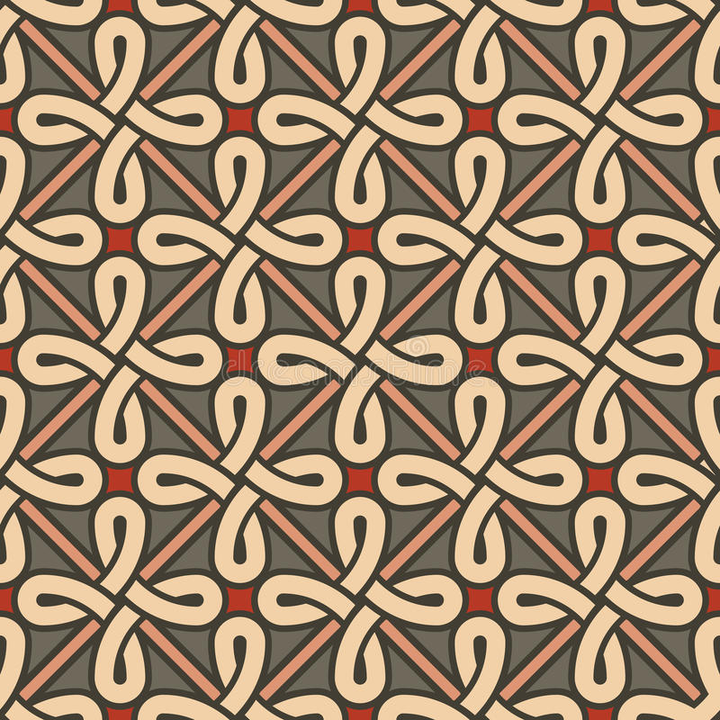 Stylish geometric ornament royalty free illustration