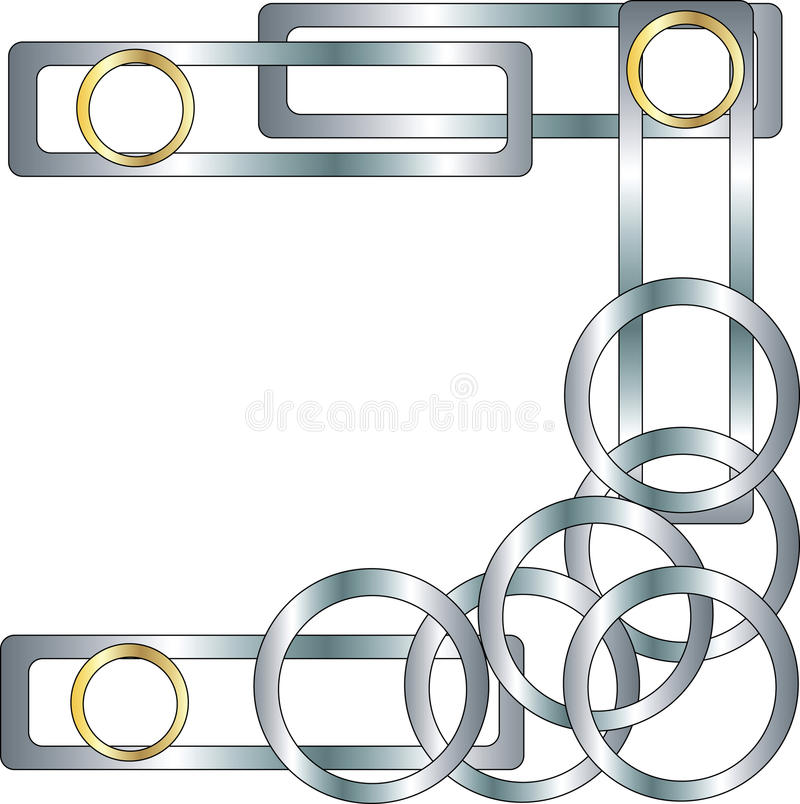 Stylish geometric pattern. Vector illustration of circles and rectangles vector illustration
