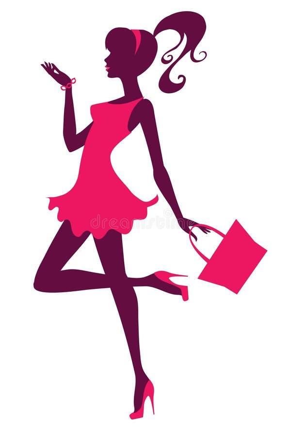 Download Stylish girl stock vector. Image of ponytail, fashionable - 25039730