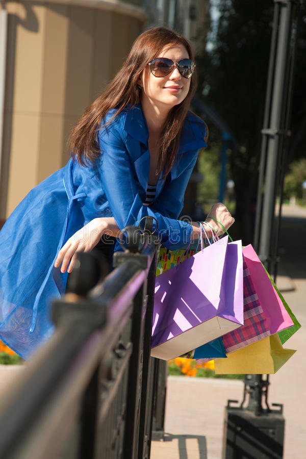 Download Stylish girl stock photo. Image of leisure, carrying - 28003898