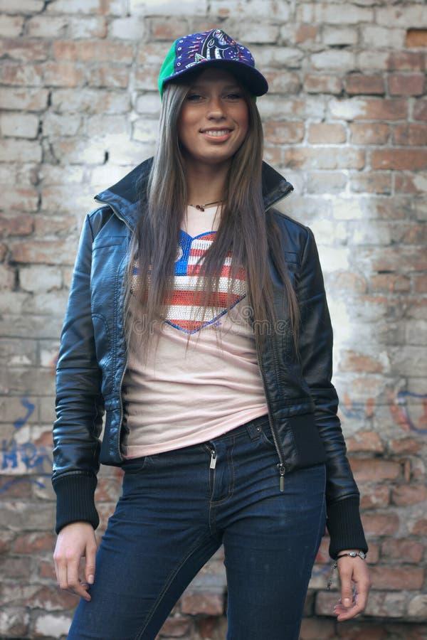 Stylish girl royalty free stock photo