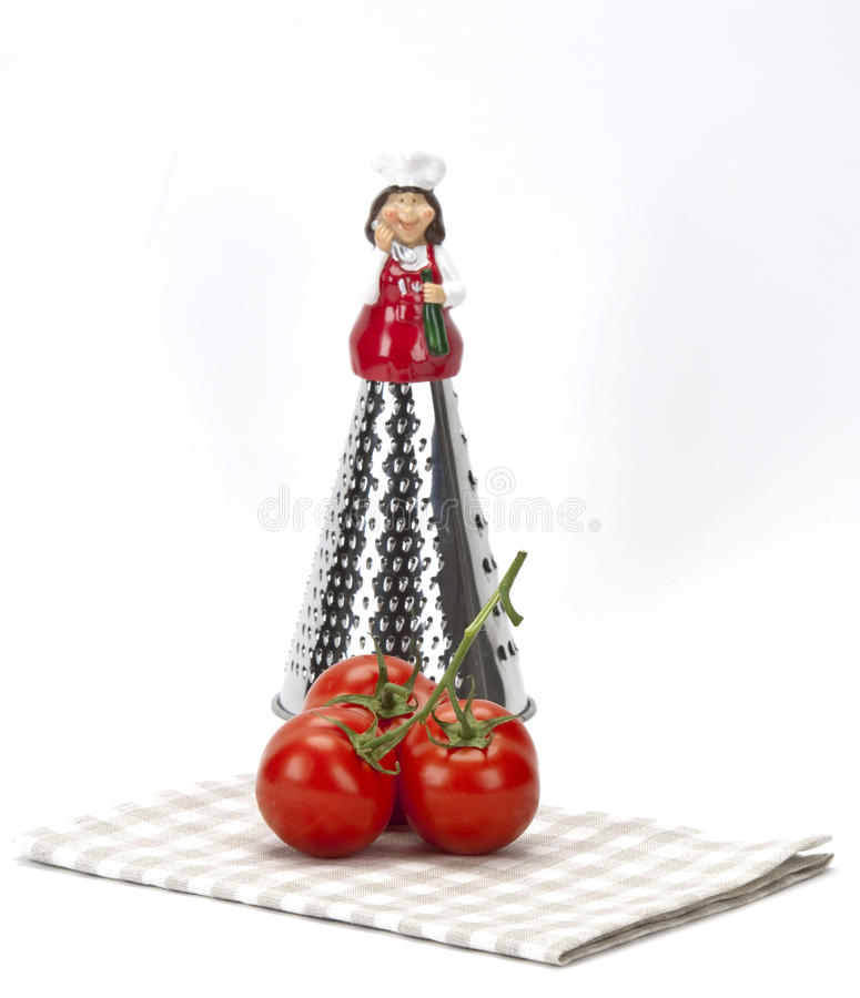 Download Stylish Grater And Tomatoes Stock Photo - Image: 18484054