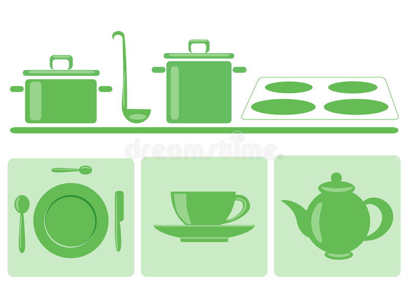 Download Stylish Green Tableware Stock Photography - Image: 7643992