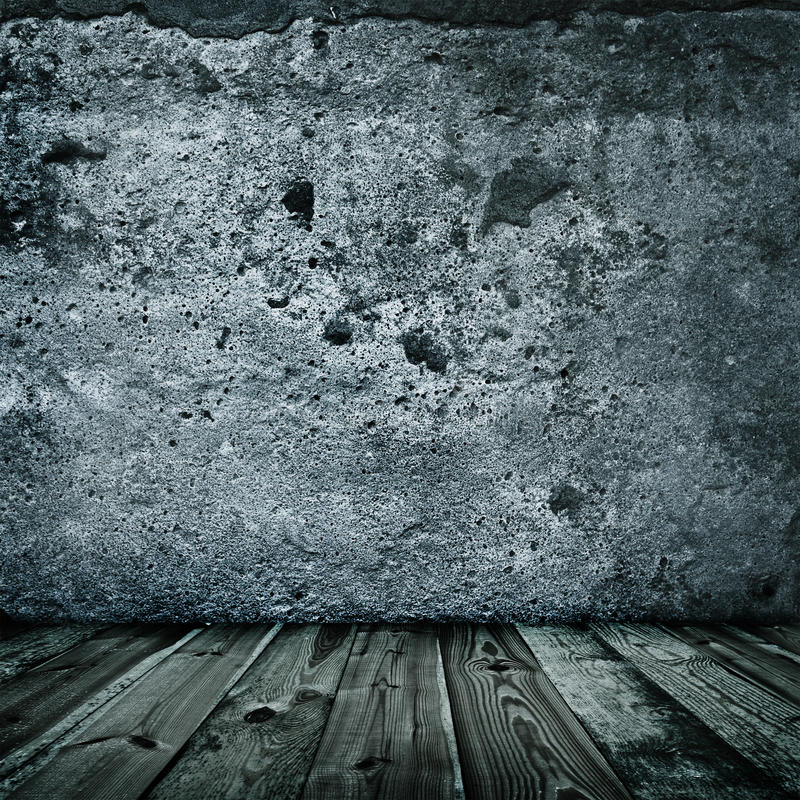 Download Stylish Grunge Wall Texture And Wooden Floor Stock Photo - Image: 15410944