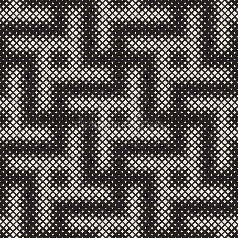 Stylish halftone texture. Endless abstract background with random size shapes. Vector seamless pattern. Stylish halftone texture. Endless abstract background stock illustration