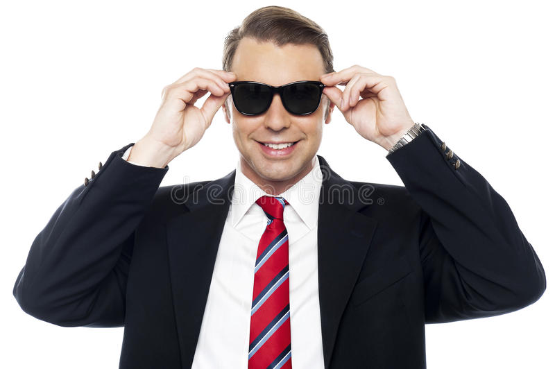 Download Stylish Handsome Businessman Wearing Shades Stock Photography - Image: 26567252
