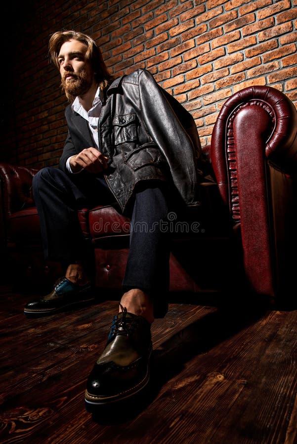 Stylish handsome man royalty free stock photography