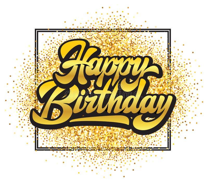 Stylish handwritten inscription happy birthday on the background. Vector illustration vector illustration