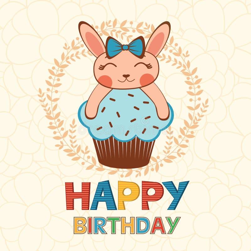 Stylish Happy birthday card stock illustration