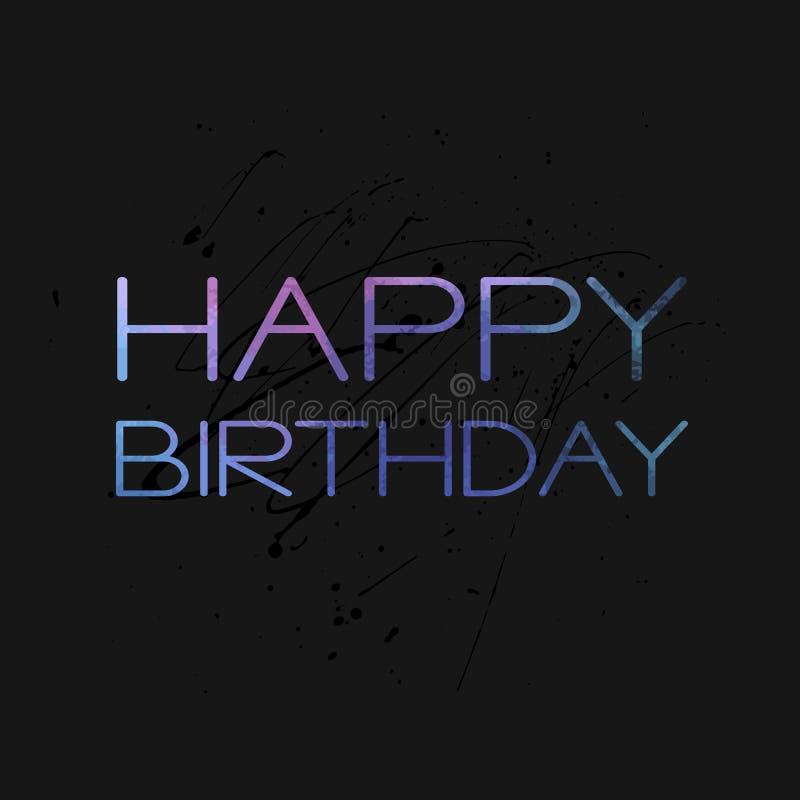 Stylish Happy Birthday Card Template Stock Vector Illustration Of