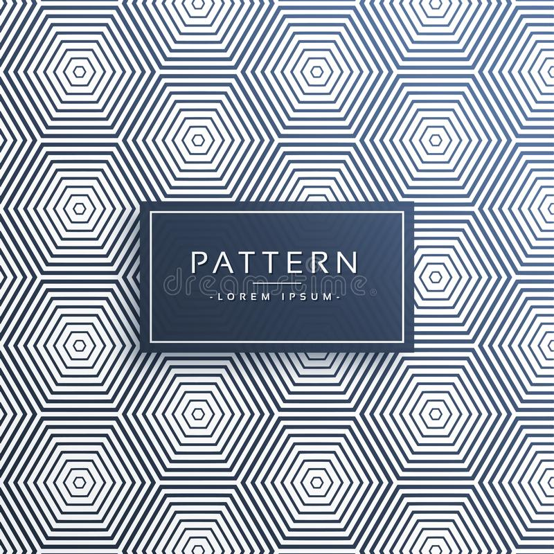 Stylish hexagonal line pattern background vector illustration
