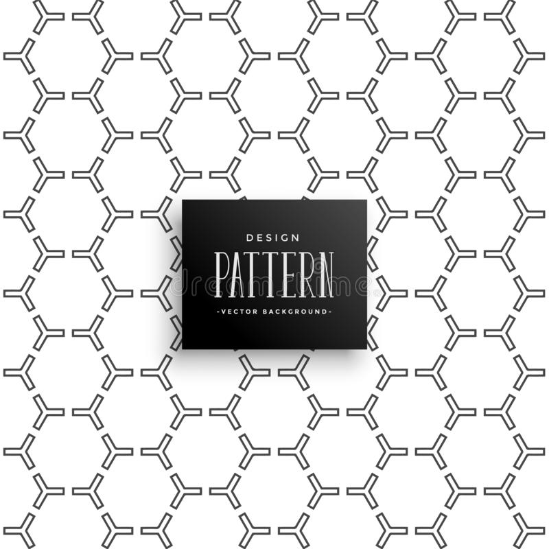 Stylish hexagonal pattern design background stock illustration