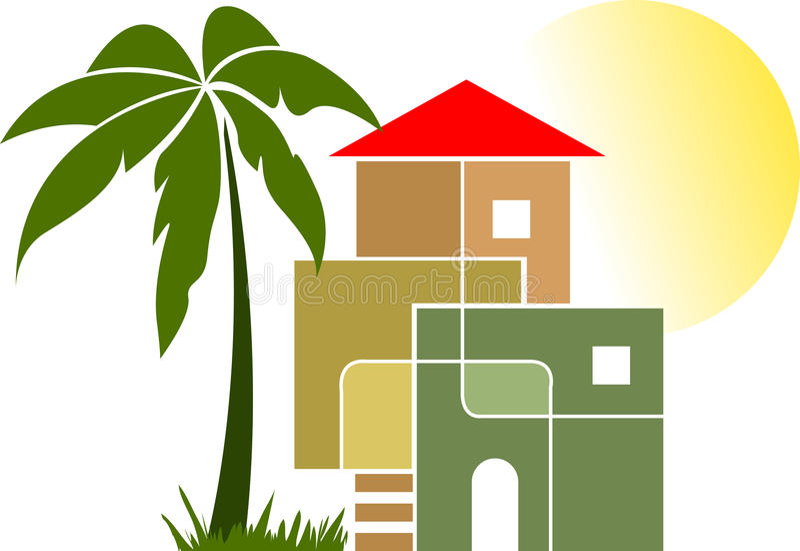 Stylish home royalty free illustration