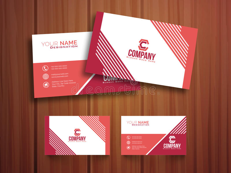Stylish horizontal business card or visiting card stock download stylish horizontal business card or visiting card stock illustration illustration of collection colourmoves