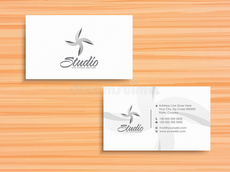 Stylish horizontal business card or visiting card stock download stylish horizontal business card or visiting card stock illustration illustration of clean colourmoves