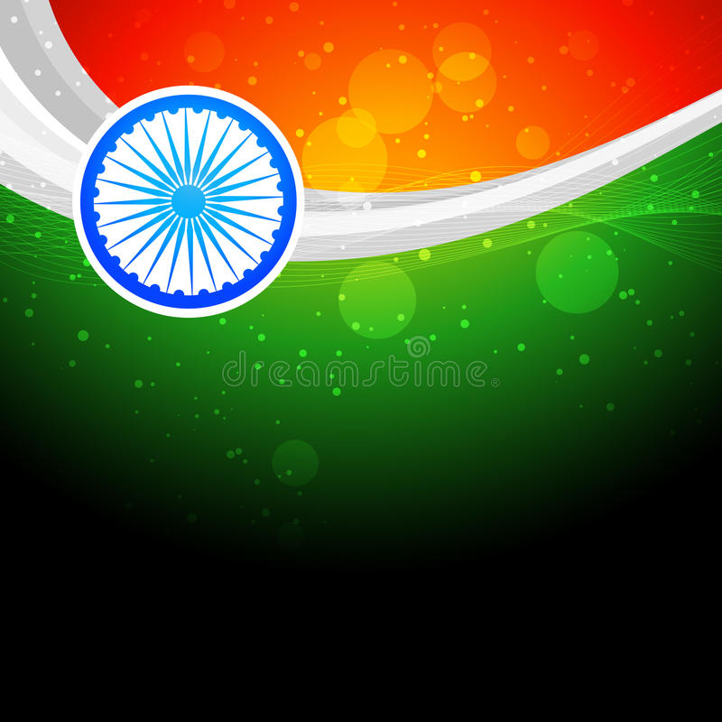 Stylish indian flag background stock illustration