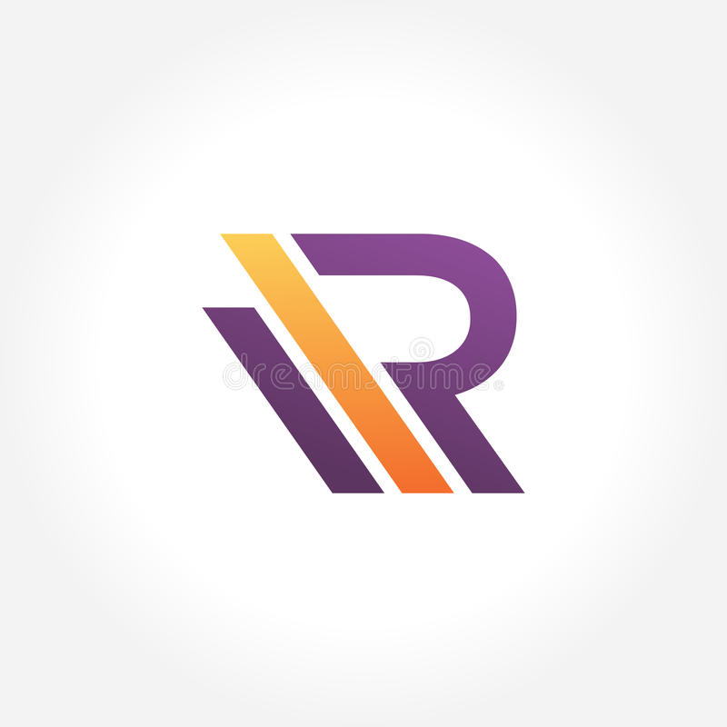 Stylish Initial R Symbol Creative Design Stock Vector