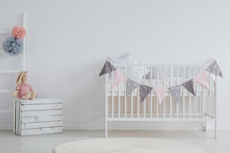 Stylish interior of baby`s room stock photography
