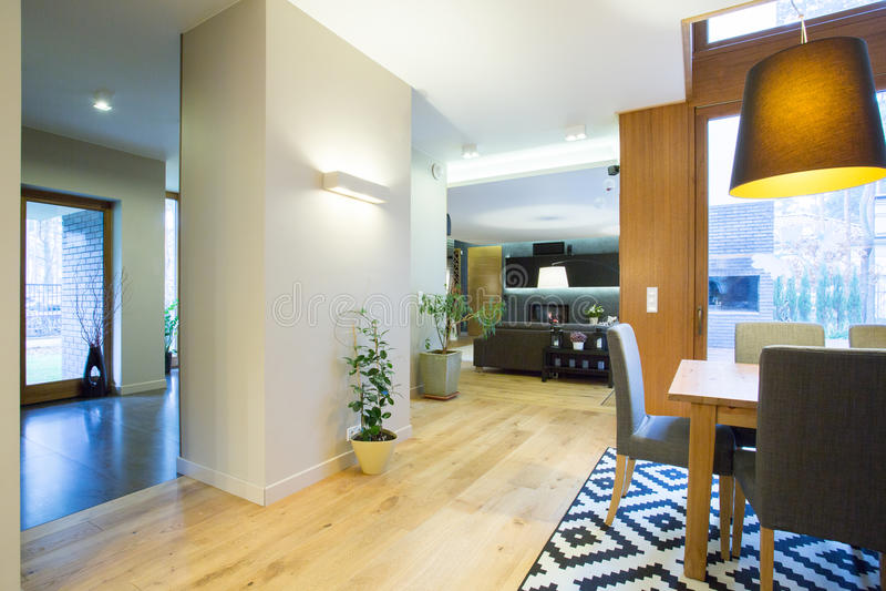 Stylish interior modern home stock photos