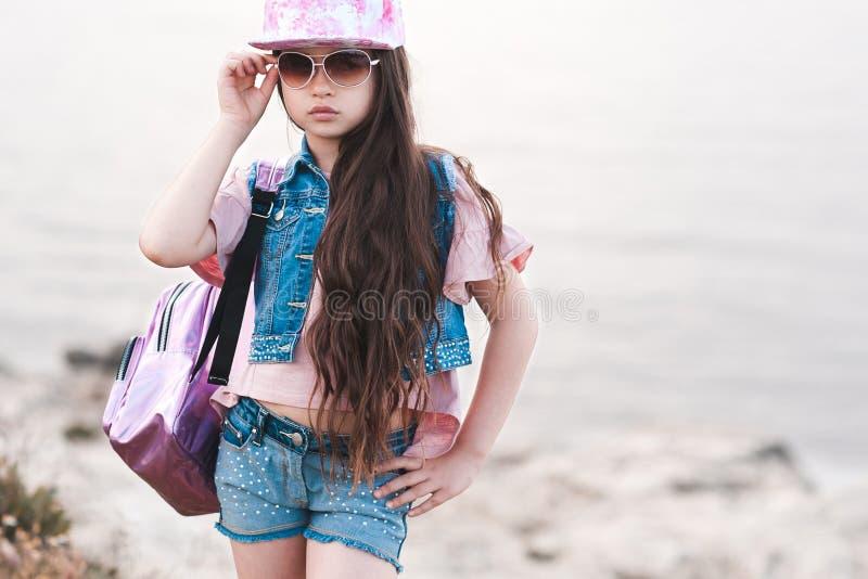 Stylish kid girl stock image