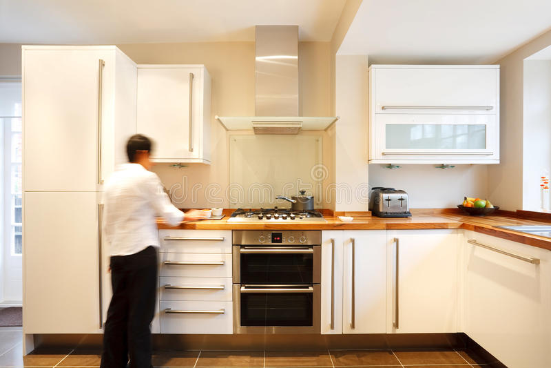 Download Stylish kitchen stock photo. Image of glass, asian, back - 21108492